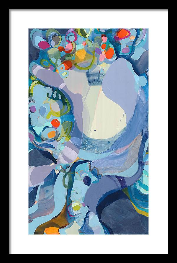 Abstract Framed Print featuring the painting 70 Degrees by Claire Desjardins