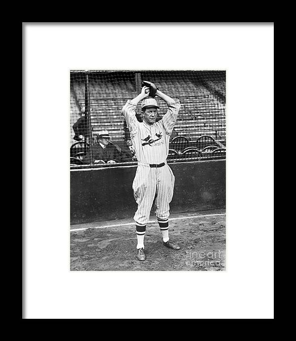 St. Louis Cardinals Framed Print featuring the photograph National Baseball Hall Of Fame Library by National Baseball Hall Of Fame Library