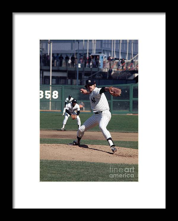 Baseball Pitcher Framed Print featuring the photograph Mlb Photos Archive by Louis Requena