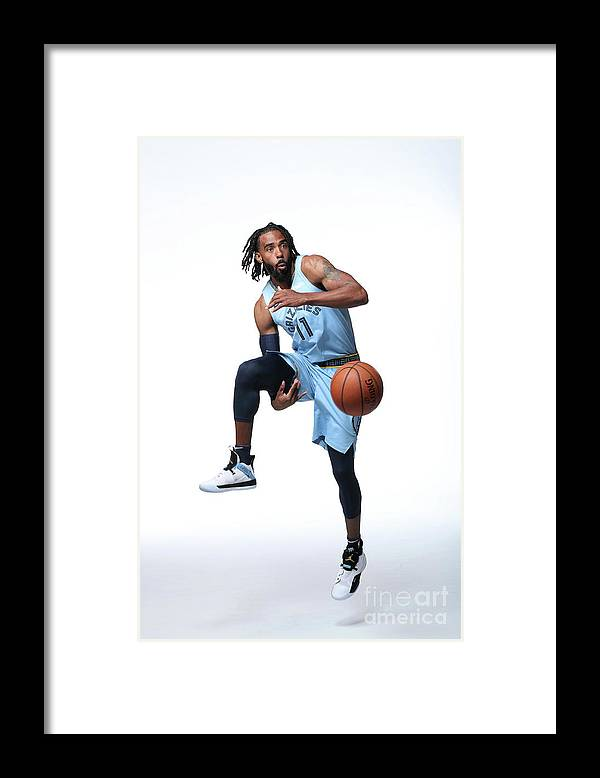 Media Day Framed Print featuring the photograph 2018-19 Memphis Grizzlies Media Day by Joe Murphy