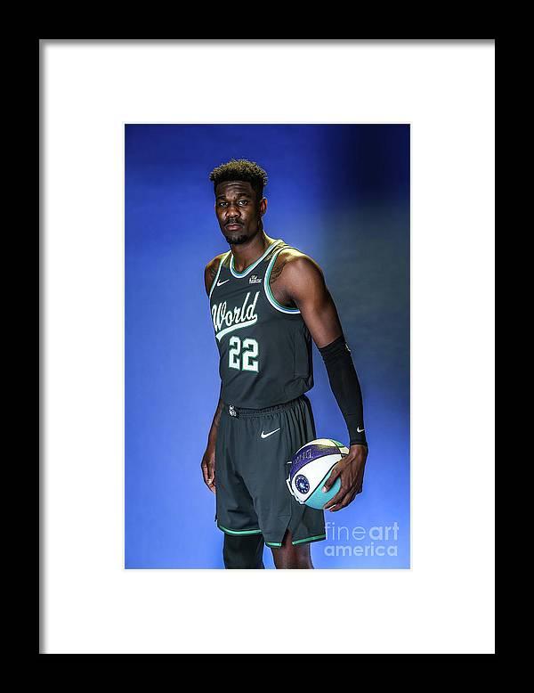 Nba Pro Basketball Framed Print featuring the photograph 2019 Nba All Star Portraits by Michael J. Lebrecht Ii