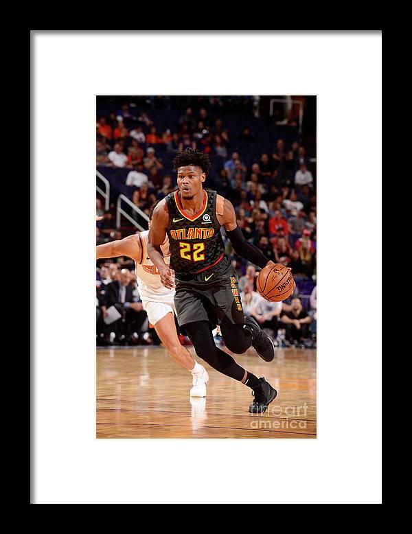 Nba Pro Basketball Framed Print featuring the photograph Atlanta Hawks V Phoenix Suns by Barry Gossage