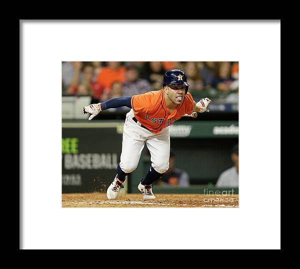 People Framed Print featuring the photograph Detroit Tigers V Houston Astros by Bob Levey