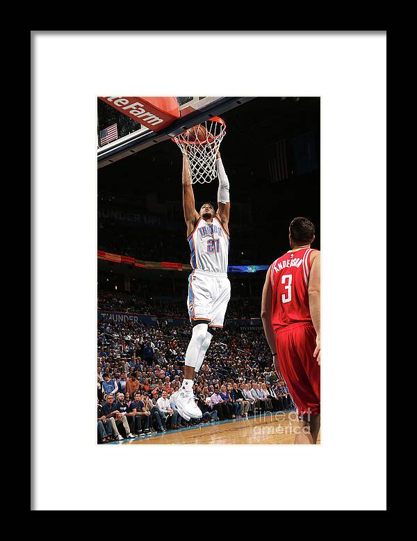 Nba Pro Basketball Framed Print featuring the photograph Houston Rockets V Oklahoma City Thunder by Layne Murdoch