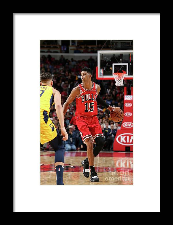 Nba Pro Basketball Framed Print featuring the photograph Indiana Pacers V Chicago Bulls by Gary Dineen