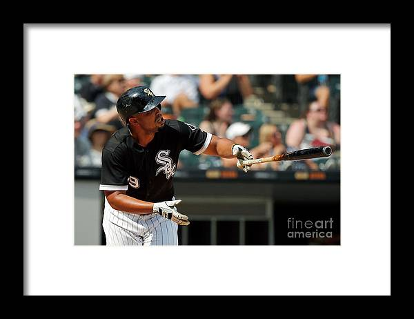 Three Quarter Length Framed Print featuring the photograph Kansas City Royals V Chicago White Sox by Jon Durr