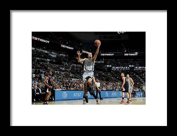 Nba Pro Basketball Framed Print featuring the photograph La Clippers V San Antonio Spurs by Mark Sobhani