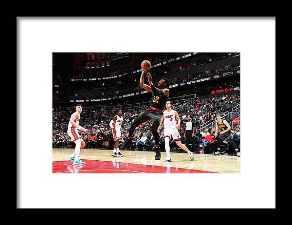 Atlanta Framed Print featuring the photograph Miami Heat V Atlanta Hawks by Scott Cunningham