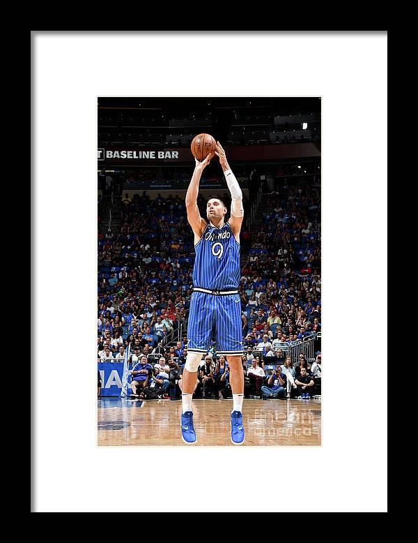 Nba Pro Basketball Framed Print featuring the photograph Miami Heat V Orlando Magic by Fernando Medina