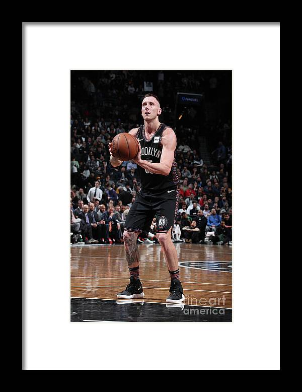 Nba Pro Basketball Framed Print featuring the photograph Milwaukee Bucks V Brooklyn Nets by Nathaniel S. Butler