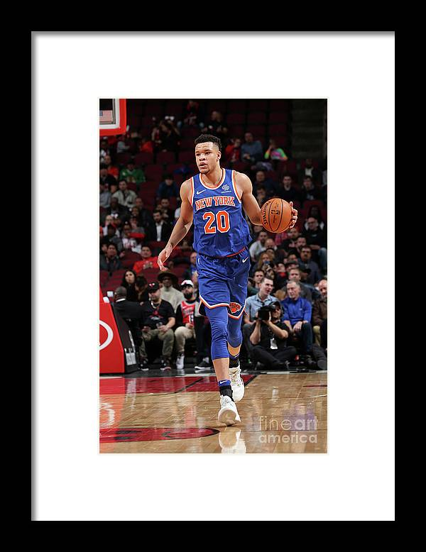 Nba Pro Basketball Framed Print featuring the photograph New York Knicks V Chicago Bulls by Gary Dineen