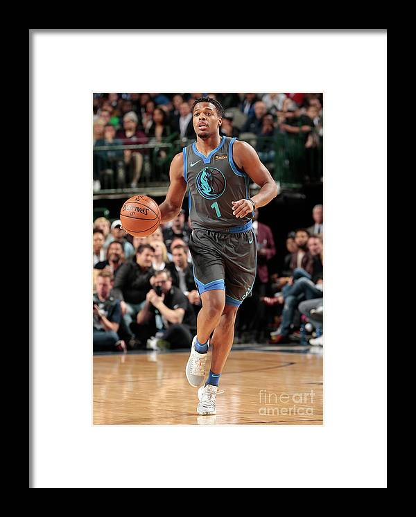Nba Pro Basketball Framed Print featuring the photograph Oklahoma City Thunder V Dallas Mavericks by Glenn James