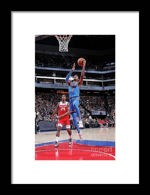 Nba Pro Basketball Framed Print featuring the photograph Oklahoma City Thunder V Sacramento Kings by Rocky Widner