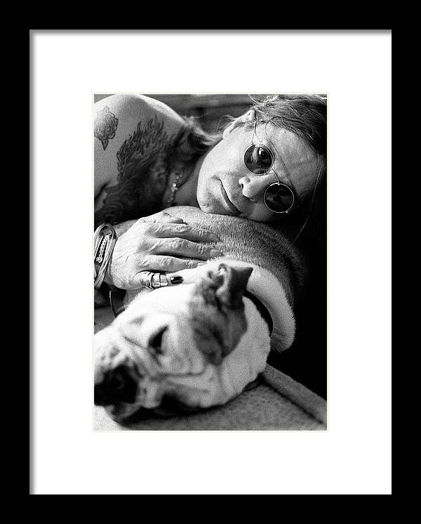 Music Framed Print featuring the photograph Ozzy Osbourne by Martyn Goodacre
