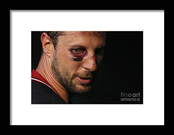 People Framed Print featuring the photograph Philadelphia Phillies V Washington 8 by Patrick Smith