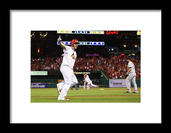 St. Louis Cardinals Framed Print featuring the photograph Pittsburgh Pirates V St. Louis Cardinals 8 by Dilip Vishwanat
