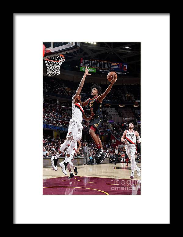 Nba Pro Basketball Framed Print featuring the photograph Portland Trail Blazers V Cleveland by David Liam Kyle