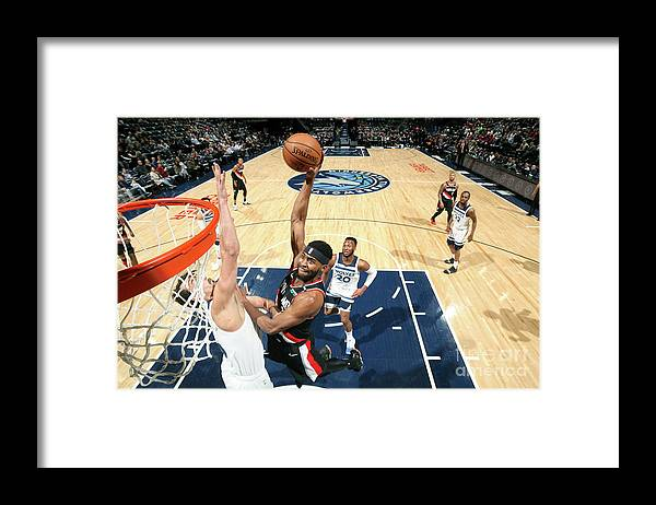 Moe Harkless Framed Print featuring the photograph Portland Trail Blazers V Minnesota by David Sherman