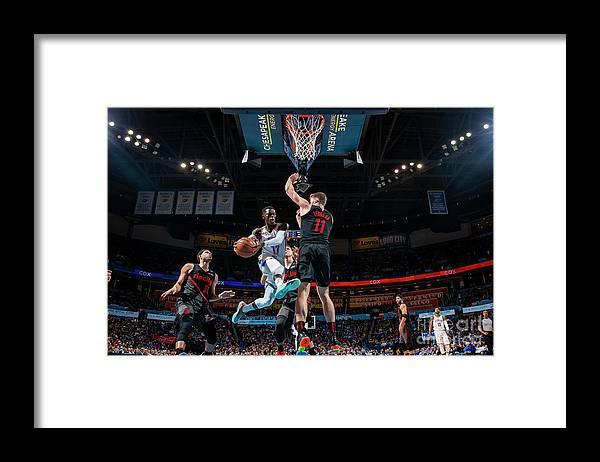 Nba Pro Basketball Framed Print featuring the photograph Portland Trail Blazers V Oklahoma City by Zach Beeker