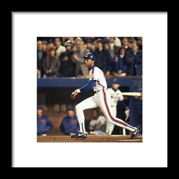 1980-1989 Framed Print featuring the photograph Red Sox V Mets 8 by T.g. Higgins