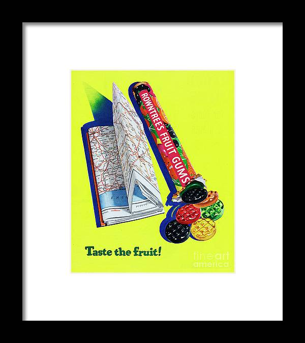 1950-1959 Framed Print featuring the photograph Rowntrees Fruit Gums by Picture Post