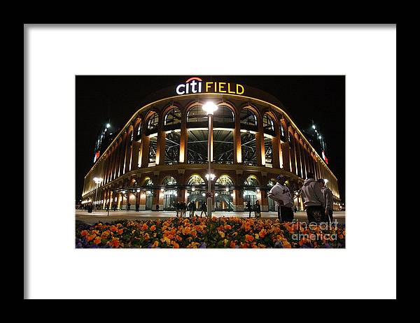 Defeat Framed Print featuring the photograph San Diego Padres V New York Mets by Jim Mcisaac