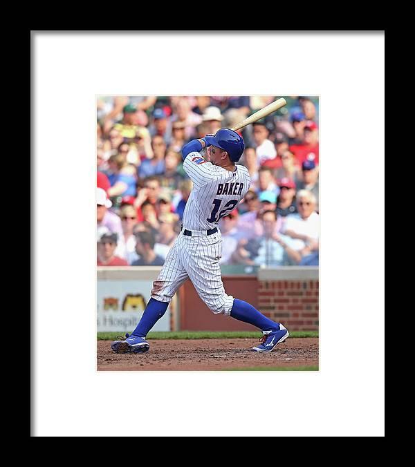 National League Baseball Framed Print featuring the photograph Washington Nationals V Chicago Cubs by Jonathan Daniel