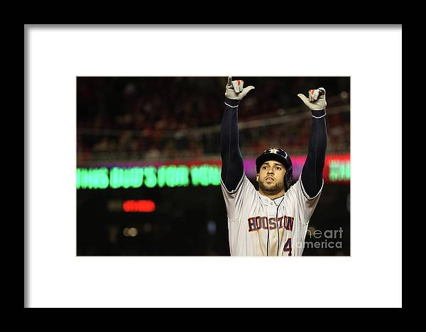 People Framed Print featuring the photograph World Series - Houston Astros V 8 by Patrick Smith