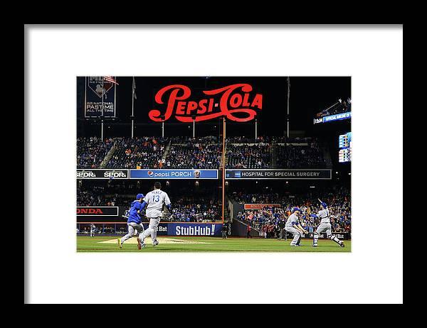 American League Baseball Framed Print featuring the photograph World Series - Kansas City Royals V New by Al Bello