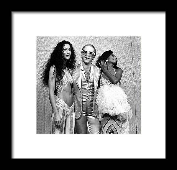 Cher Framed Print featuring the photograph Mark Sullivan 70s Rock Archive by Mark Sullivan