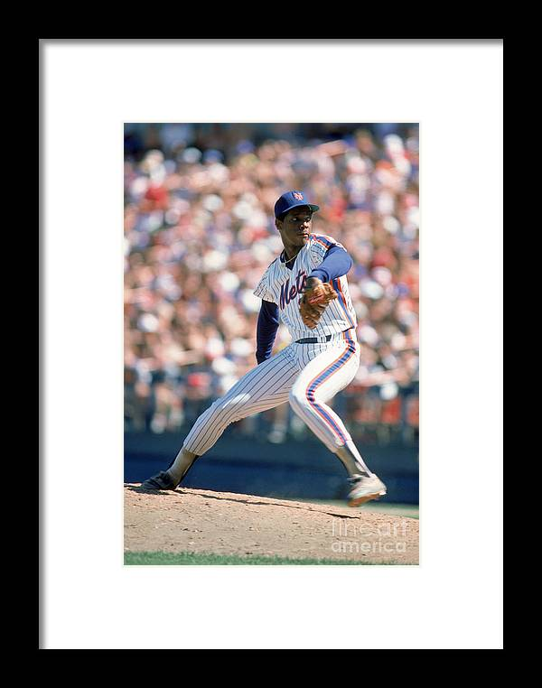 Dwight Gooden Framed Print featuring the photograph Mlb Photos Archive 89 by Rich Pilling