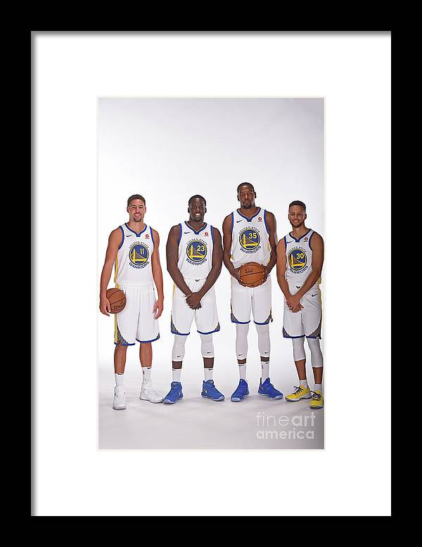 Media Day Framed Print featuring the photograph 2017-18 Golden State Warriors Media Day by Noah Graham
