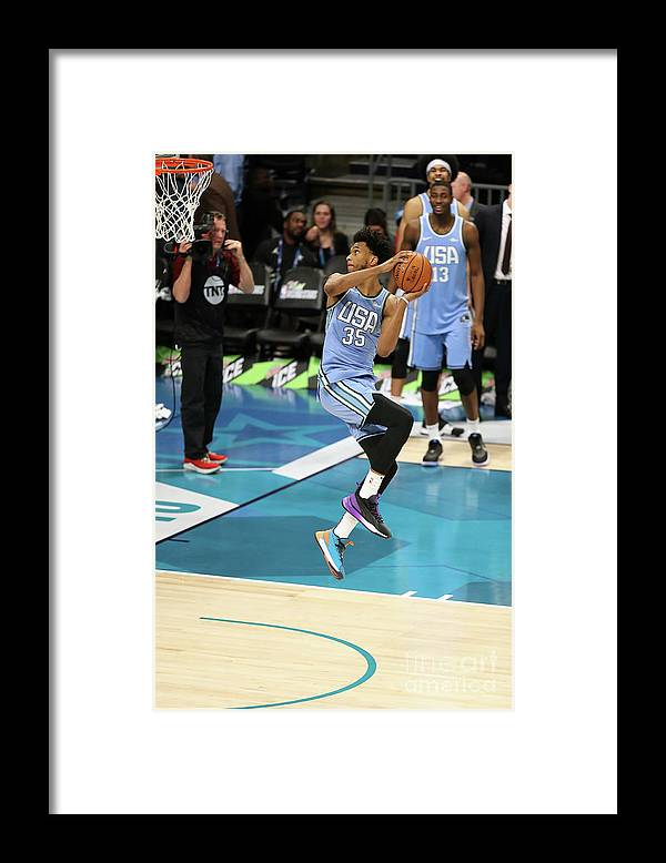 Nba Pro Basketball Framed Print featuring the photograph 2019 Mtn Dew Ice Rising Stars by Kent Smith