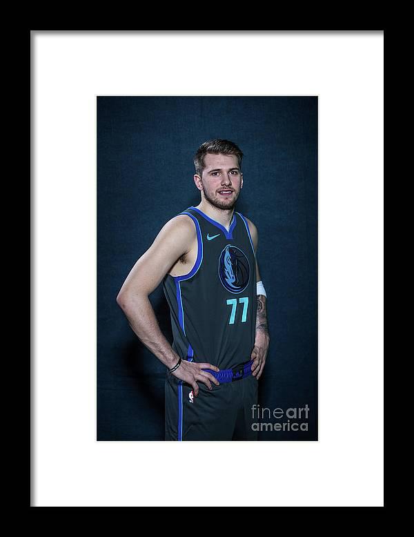 Nba Pro Basketball Framed Print featuring the photograph 2019 Nba All-star Portraits by Michael J. Lebrecht Ii