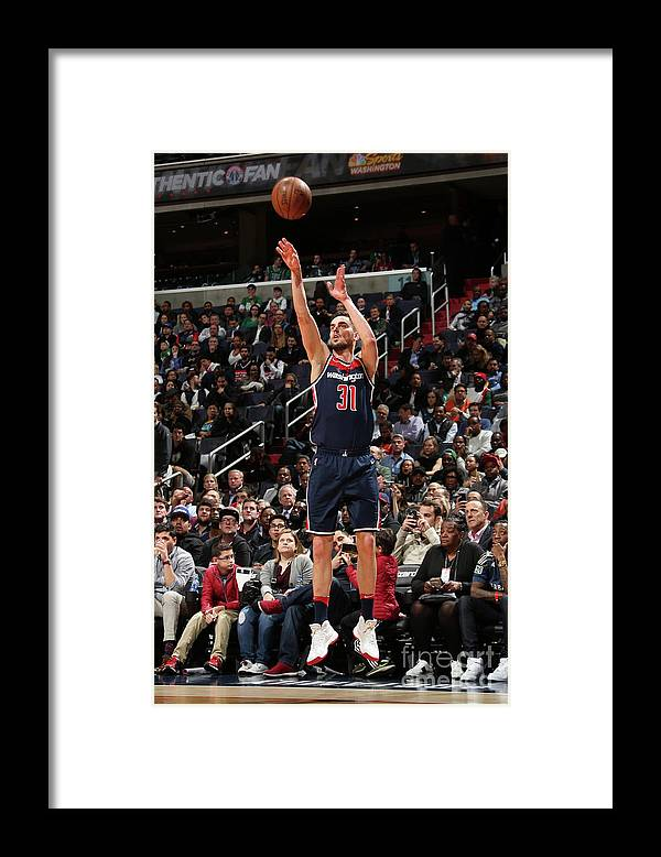Nba Pro Basketball Framed Print featuring the photograph Boston Celtics V Washington Wizards by Ned Dishman