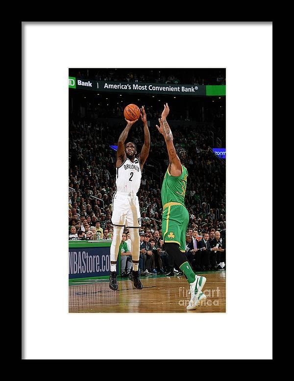 Nba Pro Basketball Framed Print featuring the photograph Brooklyn Nets V Boston Celtics by Brian Babineau