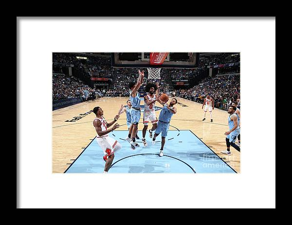 Coby White Framed Print featuring the photograph Chicago Bulls V Memphis Grizzlies by Joe Murphy
