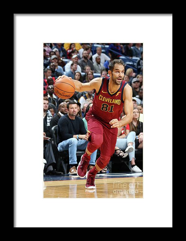 Smoothie King Center Framed Print featuring the photograph Cleveland Cavaliers V New Orleans by Layne Murdoch