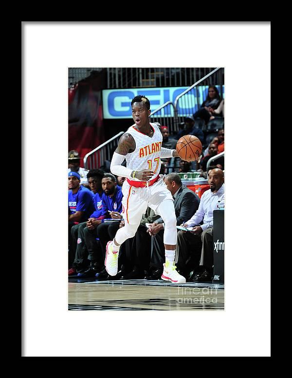 Atlanta Framed Print featuring the photograph Detroit Pistons V Atlanta Hawks by Scott Cunningham