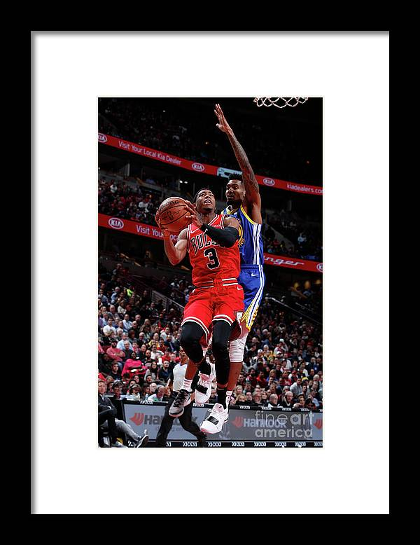 Nba Pro Basketball Framed Print featuring the photograph Golden State Warriors V Chicago Bulls by Jeff Haynes