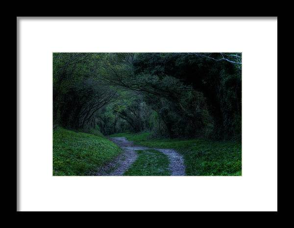 Mill Lane Framed Print featuring the photograph Halnaker - England by Joana Kruse