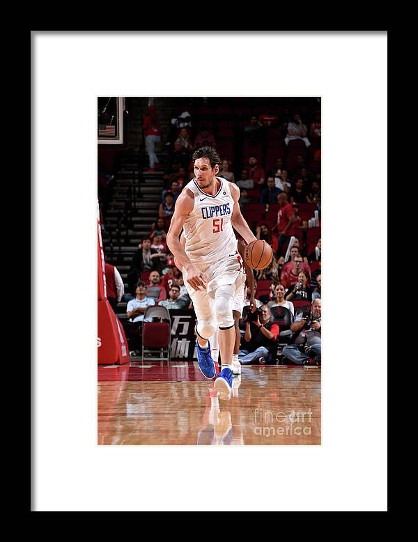 Nba Pro Basketball Framed Print featuring the photograph La Clippers V Houston Rockets by Bill Baptist