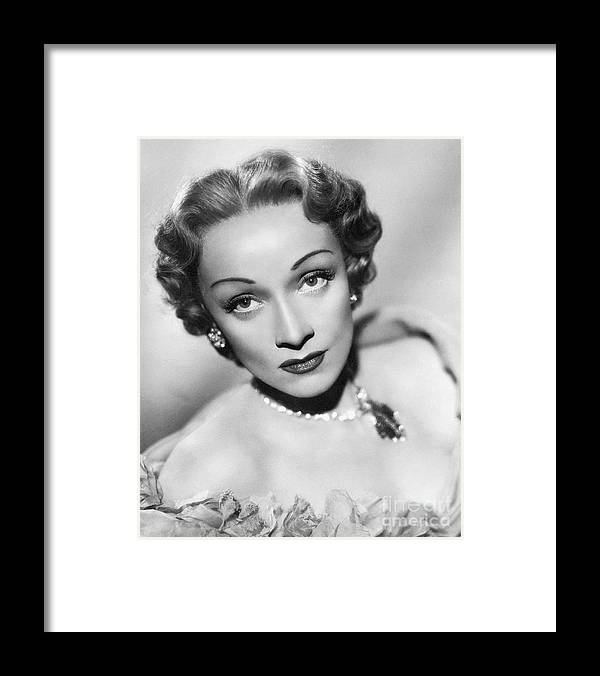 Marlene Dietrich Framed Print featuring the photograph Marlene Dietrich by Bettmann