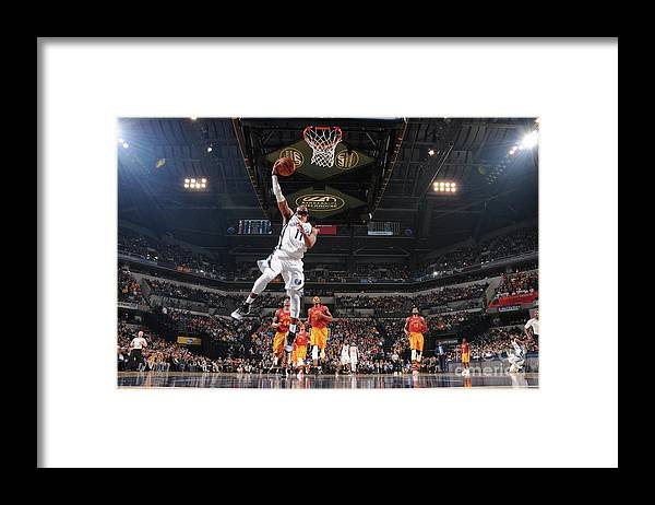 Nba Pro Basketball Framed Print featuring the photograph Memphis Grizzlies V Indiana Pacers by Ron Hoskins