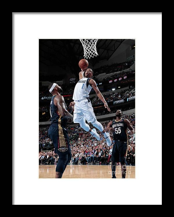 Nba Pro Basketball Framed Print featuring the photograph New Orleans Pelicans V Dallas Mavericks by Glenn James