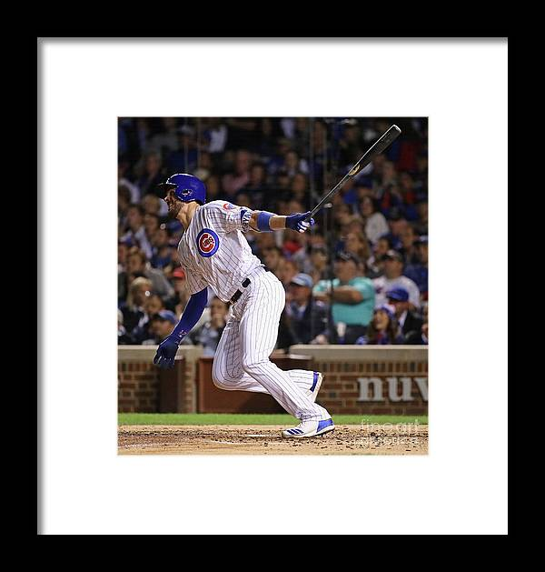 People Framed Print featuring the photograph New York Mets V Chicago Cubs 9 by Jonathan Daniel