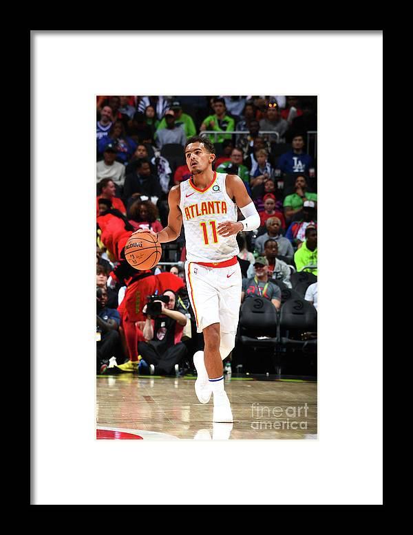 Atlanta Framed Print featuring the photograph Philadelphia 76ers V Atlanta Hawks by Scott Cunningham