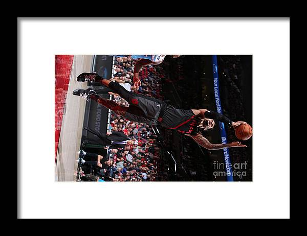 Nba Pro Basketball Framed Print featuring the photograph Sacramento Kings V Portland Trail by Sam Forencich