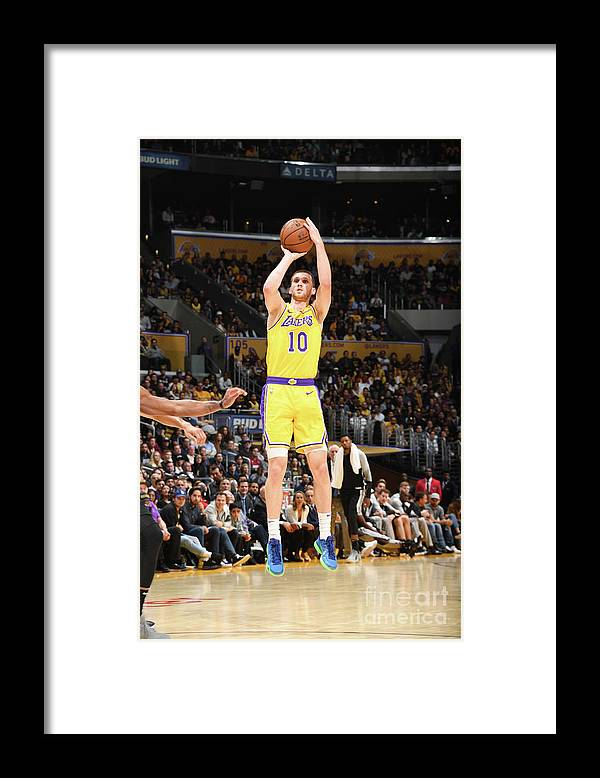 Nba Pro Basketball Framed Print featuring the photograph San Antonio Spurs V Los Angeles Lakers by Andrew D. Bernstein