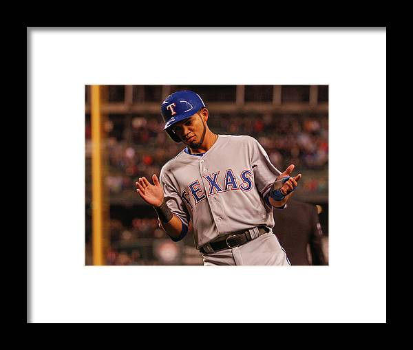 Ninth Inning Framed Print featuring the photograph Texas Rangers V Seattle Mariners by Otto Greule Jr